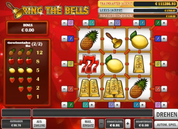 Ring the Bells Slot Play'n GO Review Screenshot