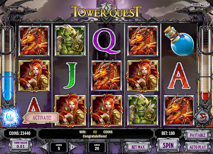 Tower Quest Slot Review Play'n GO Screenshot