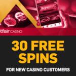 Betfair Casino 30 free spins no deposit required