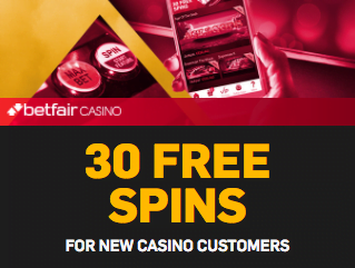 Betfair Casino 30 free spins no deposit required