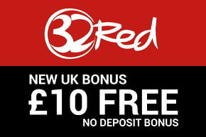 32 red casino free £10 no deposit