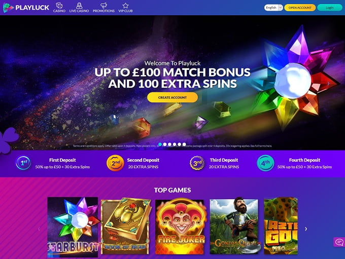PlayLuck Casino Offer Enormous Gaming Collection