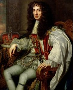 king charles II historical figures into gambling