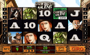 cowboys and aliens slot game