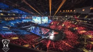 the arena where the online championships are being held