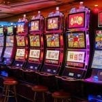 slot machines in casino room
